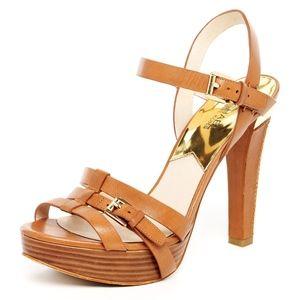 MICHAEL Michael Kors Grace Leather Platform Sandal
